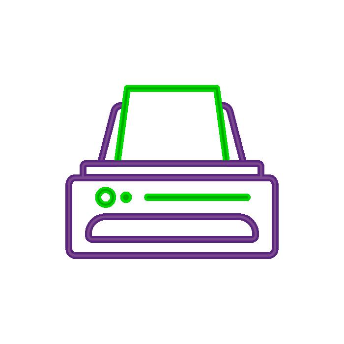 Ilustração de impressora com papel