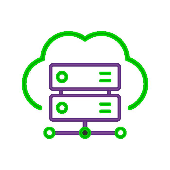 Imagem de database dentro de uma nuvem representando o trabalho de backup e nuvem